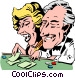 Cartoon gambling Vector Clipart illustration