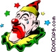 Circus clowns Vector Clipart graphic