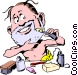 Cartoon shave Vector Clipart picture