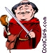 Cartoon Friar Tuck Vector Clipart graphic
