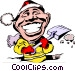 Cartoon snow shovel Vector Clipart picture