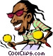 Cartoon Caribbean musician Vector Clip Art image