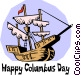 Happy Columbus Day! Vector Clipart illustration
