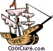 Christopher Columbus' ship Vector Clip Art graphic