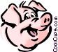 Cartoon pig Vector Clip Art graphic