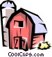 Barn and silo Vector Clipart illustration