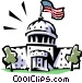 Capitol building Vector Clipart illustration