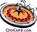 Roulette wheel Vector Clipart illustration