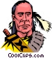 Cartoon North American Indian Vector Clip Art image