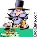 Cartoon prospector Vector Clipart graphic
