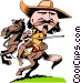 Cartoon Wild Bill Hitchcock Vector Clipart illustration