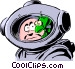 Cartoon spacemen Vector Clip Art graphic