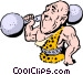 Cartoon circus performer Vector Clip Art image