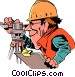Cartoon surveyor Vector Clipart graphic