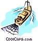 Fishing trawler Vector Clip Art image
