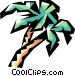 Palm trees Vector Clip Art graphic