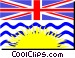Flag of British Columbia Vector Clip Art graphic