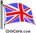 United Kingdom flag Vector Clipart illustration