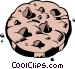 Chocolate chip cookies Vector Clipart graphic