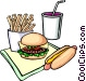 Fast food Vector Clipart graphic