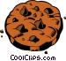 Chocolate chip cookie Vector Clip Art image