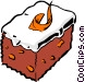 Carrot cake Vector Clipart illustration