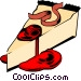 Cheesecake with cheery sauce Vector Clip Art picture