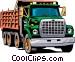Dump truck Vector Clipart graphic