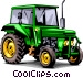 Farm tractor Vector Clipart graphic