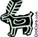 caveman drawings Vector Clip Art image