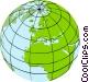 World globe Vector Clip Art graphic