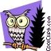 Cartoon Owl Vector Clipart image