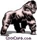 Gorilla Vector Clipart picture
