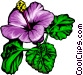 Purple flowers Vector Clipart graphic