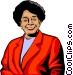 Afro-American women Vector Clipart illustration