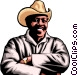 Afro-American Farmer Vector Clipart picture