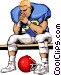 Football player Vector Clipart picture