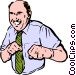 man punching Vector Clipart picture