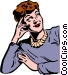 1950's woman Vector Clip Art image