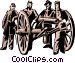 Civil war soldiers Vector Clip Art image