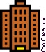 Office tower Vector Clipart picture