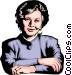 Woman executive Vector Clipart image
