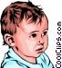 Baby boy Vector Clipart image