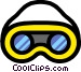 Safety goggles Vector Clipart graphic