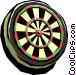 Dartboard Vector Clip Art image