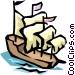 Sail boat Vector Clip Art graphic