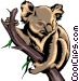 Koala bear Vector Clipart picture