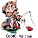 Fishing for prospects Vector Clip Art image
