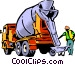 Cement mixer Vector Clipart picture