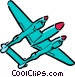 Cartoon airplanes Vector Clipart graphic